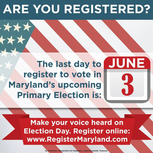 tuesday june 3rd is last day to register to vote in june 24th