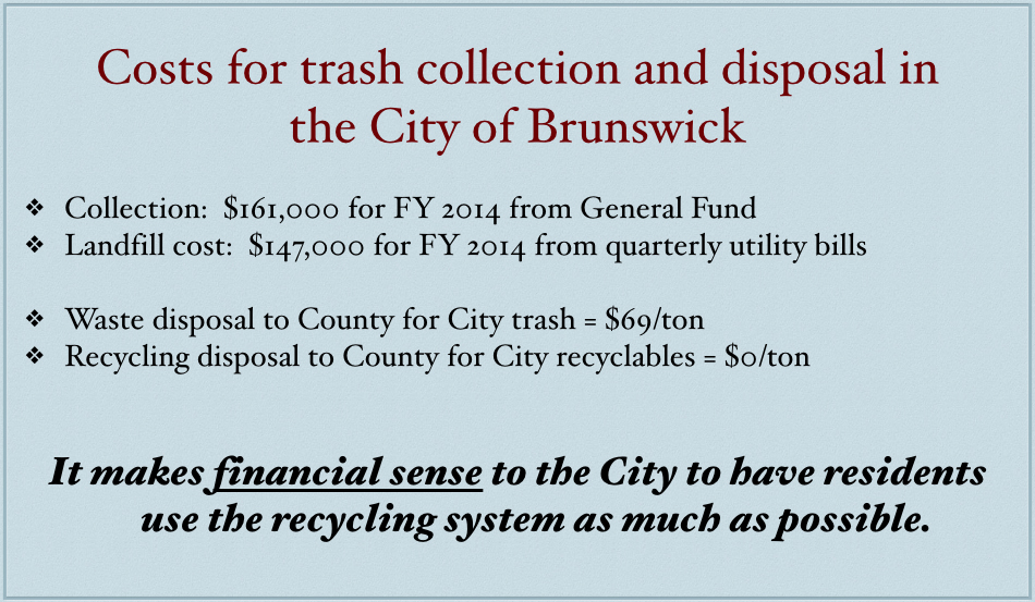 Excerpted from Mayor Tome's Power Point presentation to the council.