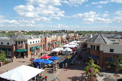 Lifestyle centers seek to recreate the retail experience of yesteryear's Main Street. Pictured are the Shops at Arbor Lakes, in Maple Grove, Minnesota.