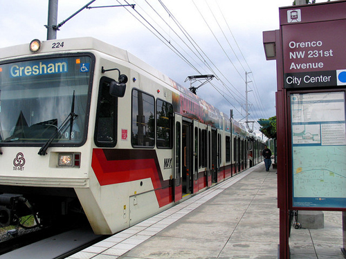 The MAX line at Orenco Station (by: Radcliffe Dacanay, creative commons)