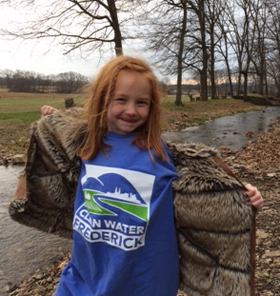A Clean Water Frederick river cleanup volunteer from  Frederick