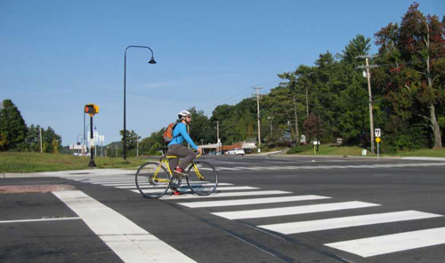 """A """"Complete Street"""" in North Carolina built with too-large dimensions. Source: NC DOT."""
