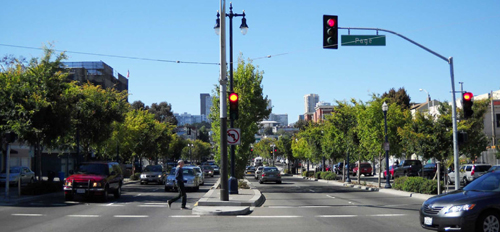 Octavia Boulevard, a high-capacity Complete Street that replaced a damaged freeway in San Francisco. Source: MIG, Inc.