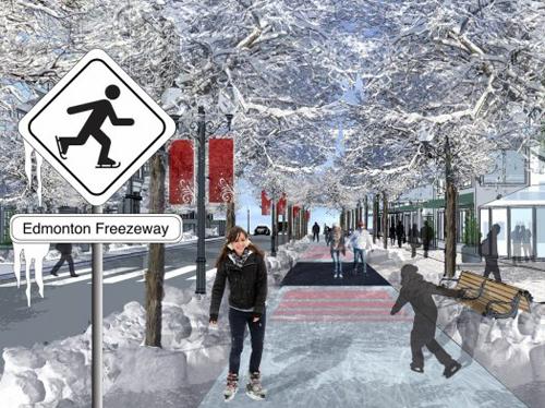 Edmonton, Alberta's Freezeway. (Image credit: City of Alberta and Matt Gibbs.)