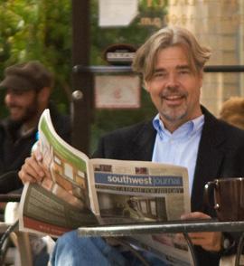 Jay Walljasper at a cafe in Minneapolis.