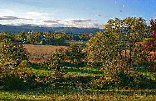 Frederick County pastoral landscape. The same photo today would show a suburban community on the west side of the City of Frederick. (by Kai  Hagen)