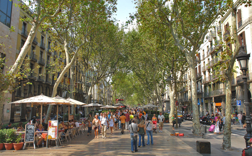 Las Ramblas in Barcelona (Source: MyTravelPhotos.net)