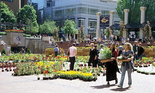 Pioneer Square in Portland.