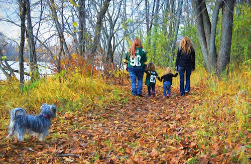 Family hike, by William Garrett