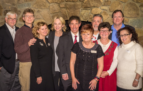 The board and staff of Envision Frederick County with Jamie Raskin and Mike Tidwell.