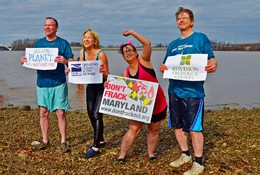 Envision staff and board members take the Polar Bear Plunge to fight climate change