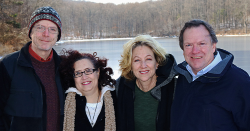 Kai, Ann, Patrice and Mark are taking the Polar Bear Plunge on January 28th