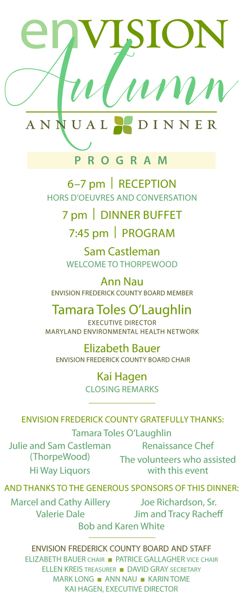 Envision Autumn 2017 Was Our Only Fundraising Event Of The Year But Its Still A Good Time To Support Frederick County If You Value And
