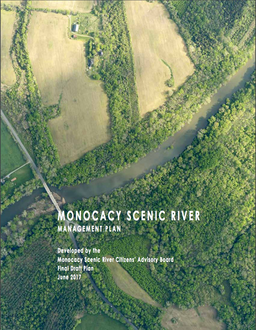 monocacy scenic river management plan cover